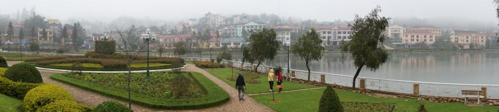 El pueblo de Sapa con su característica niebla.
