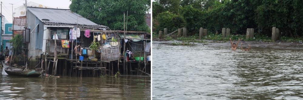 La vida cotidiana es palpable en las orillas del río.