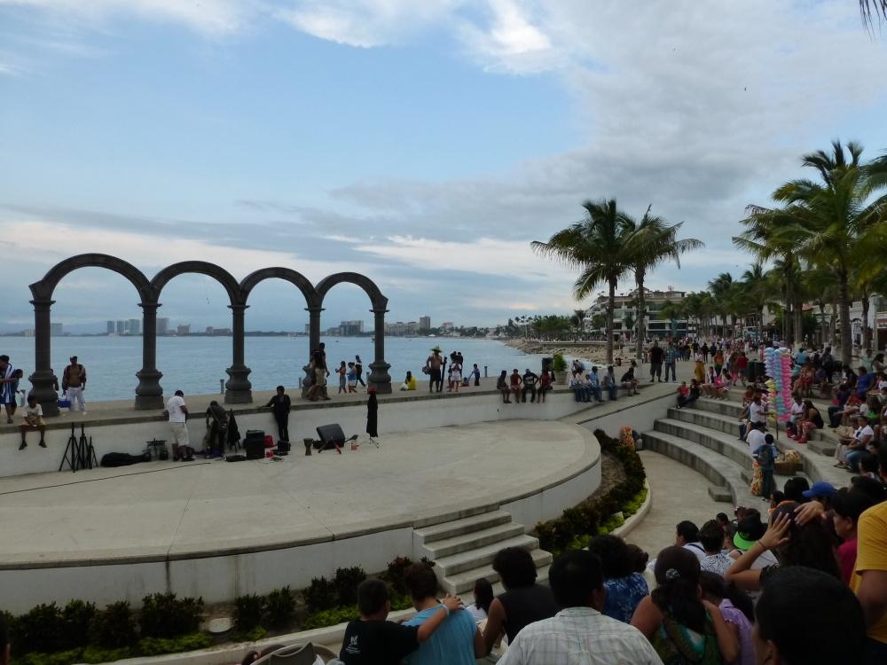 Teatro abierto donde se hacen espectáculos al aire libre.