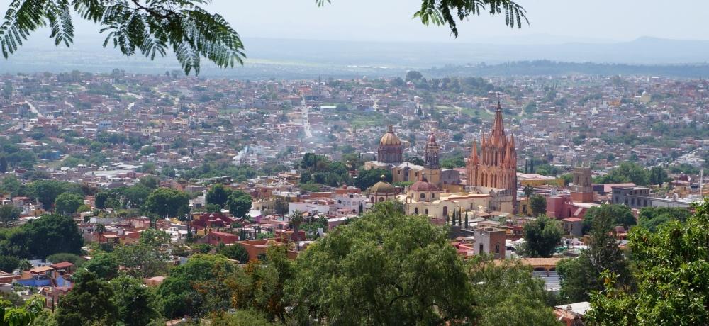 Vista de San Miguel desde el mirador.