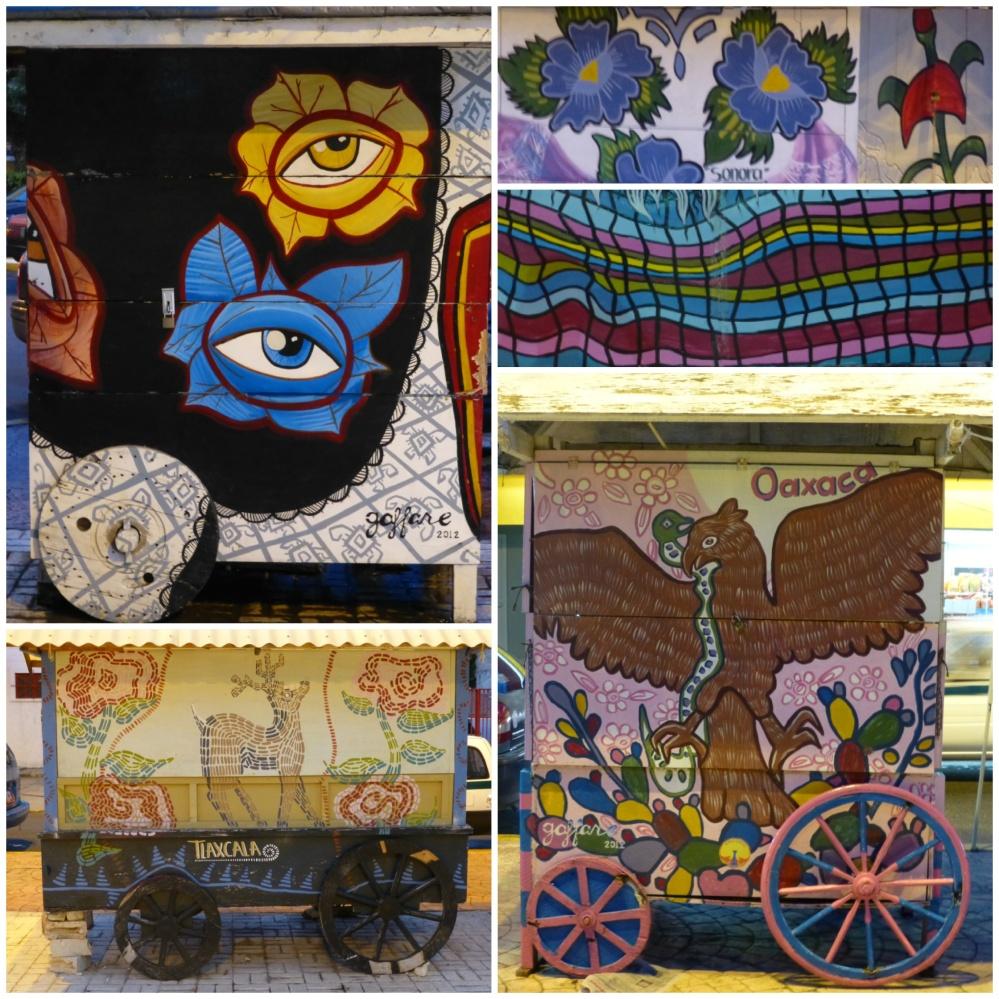 Detalle de la decoración de algunas de las casetas.