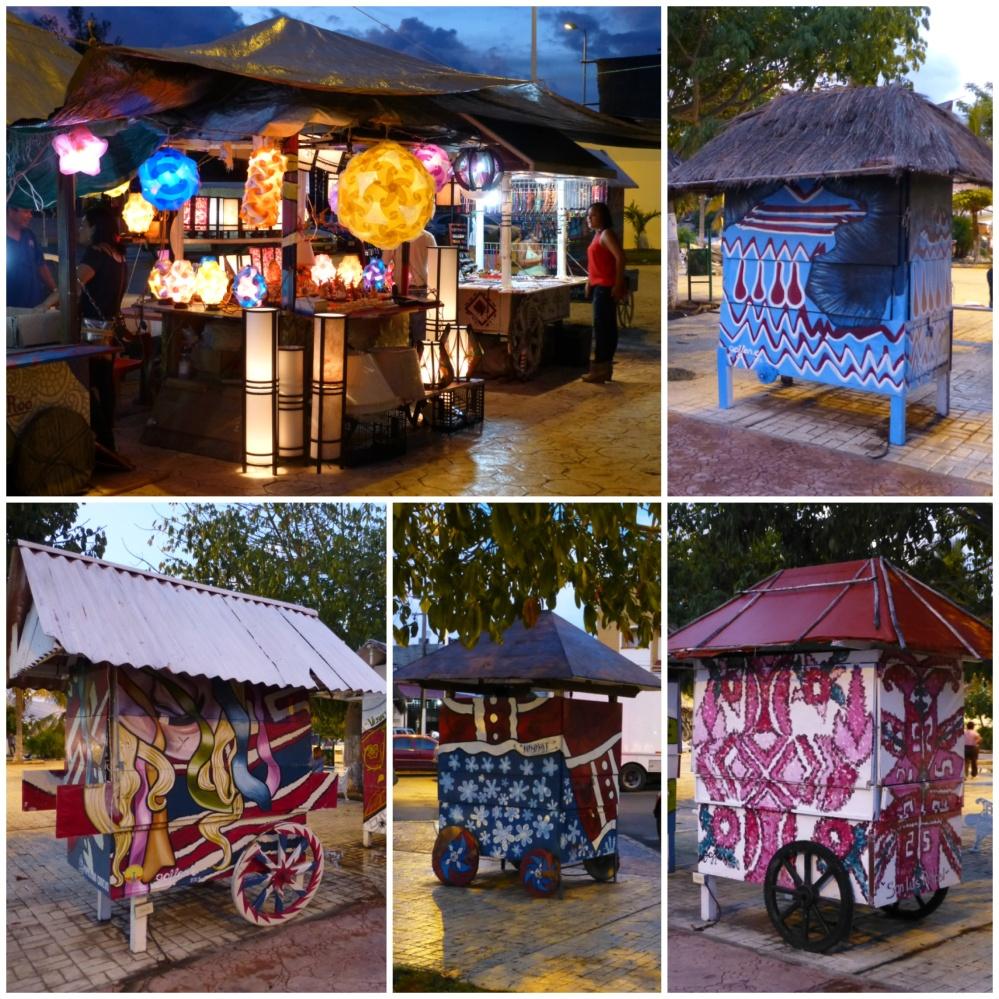 Lo unico bonito del centro de Cancún son las casetas de venta ambulante de souvenirs.