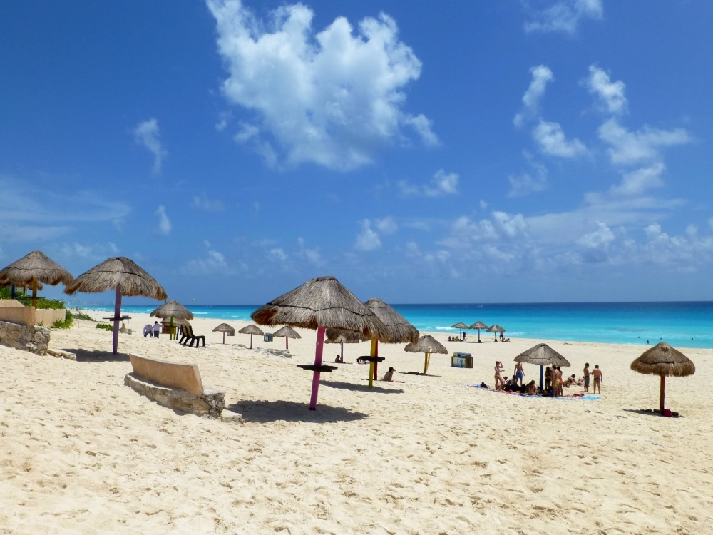 Una de las playas de Cancún, para nosotros la más bonita: playa mirador.