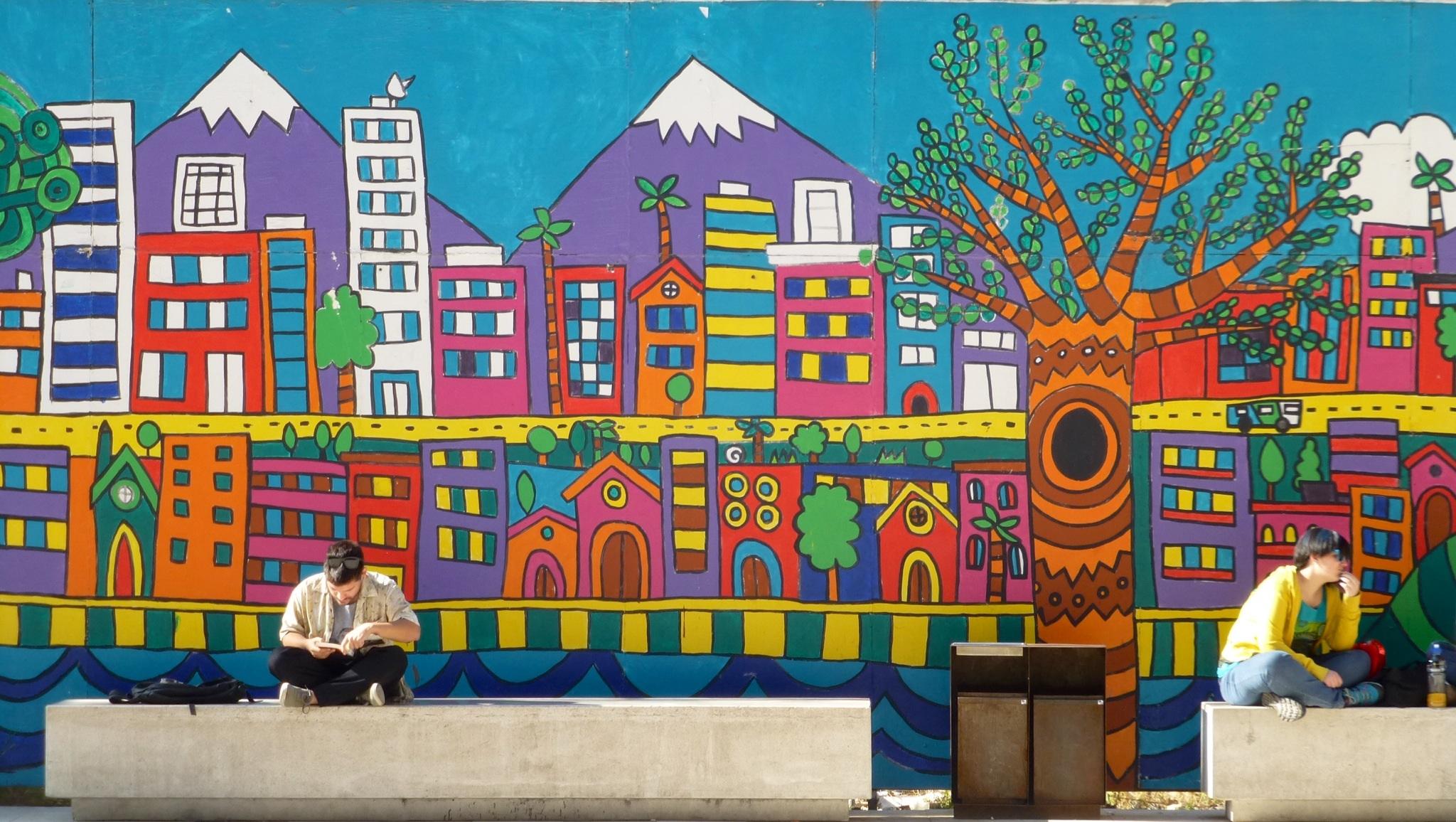Santiago de chile y valpara so un mundo por recorrer for Papeles murales en santiago de chile