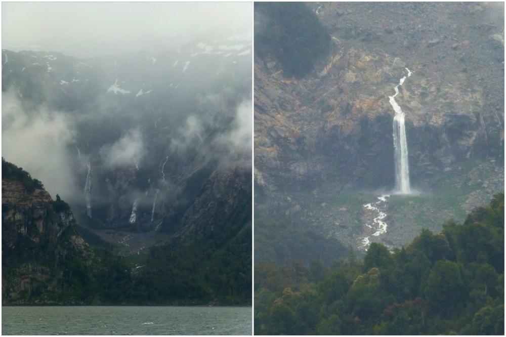 Las cascadas son innumerables por el deshielo.