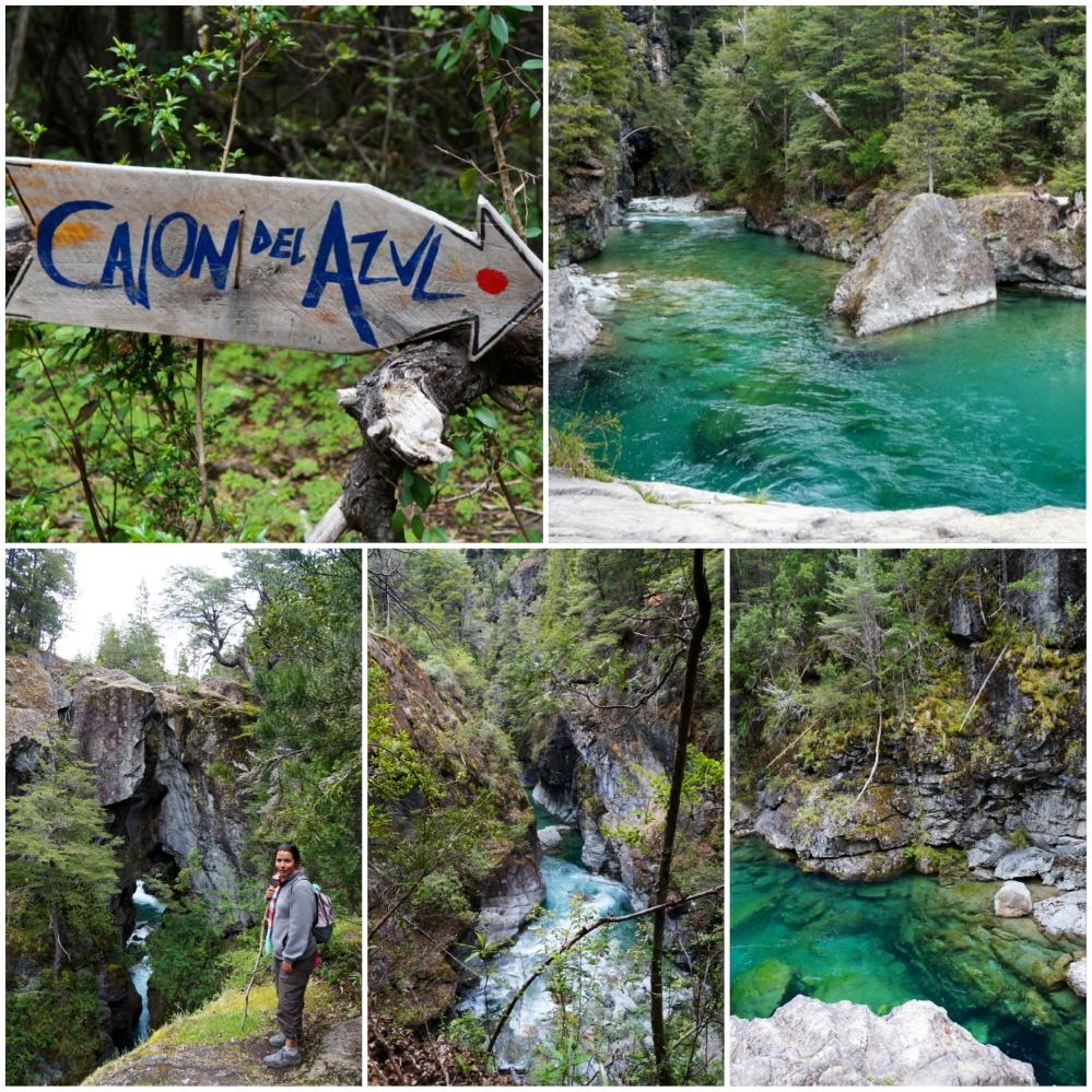 Vistas del cañón que encierra el río y el famoso cajón del Azul, que lo cubre!