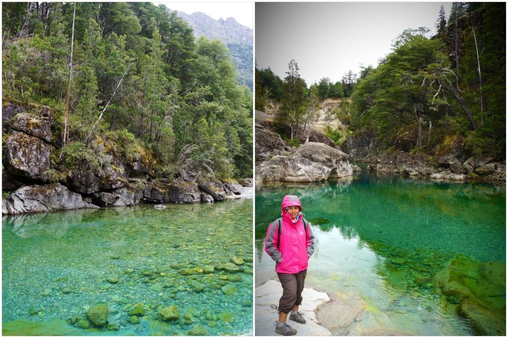 Piscinas naturales del río Azul donde da ganas de tomarse un baño.