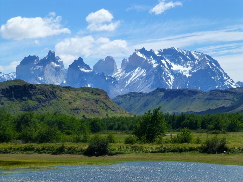 Las cumbres montañosas del parque, hacia nos dirigíamos.