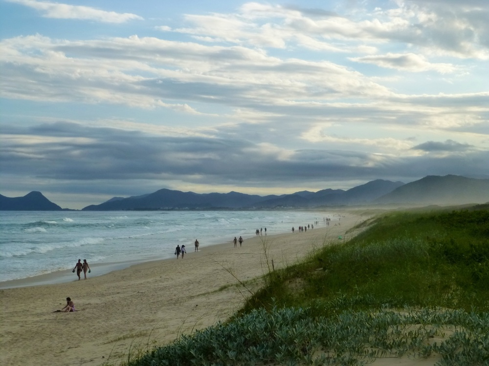 La larguísima Praia Joaquina.