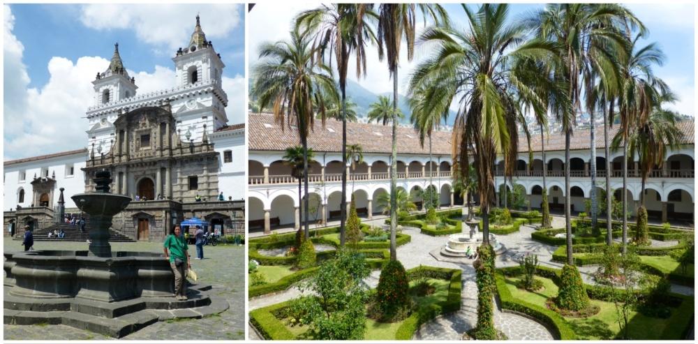 Plaza de San Francisco con la fachada e interior del monasterio del mismo nombre.