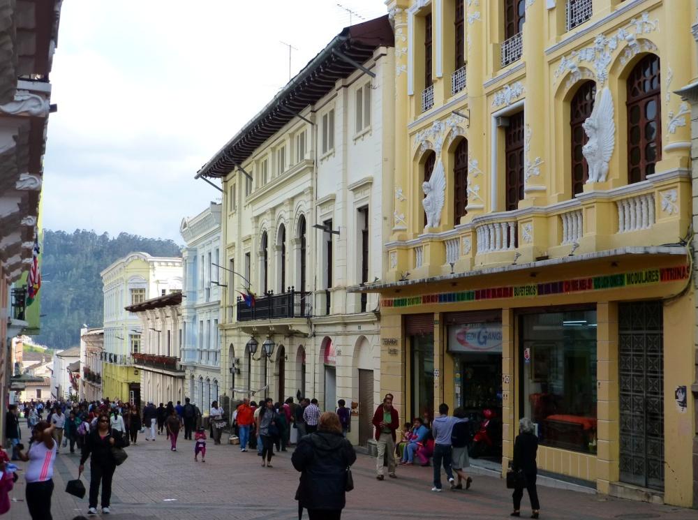 Casas coloniales del centro de Quito.