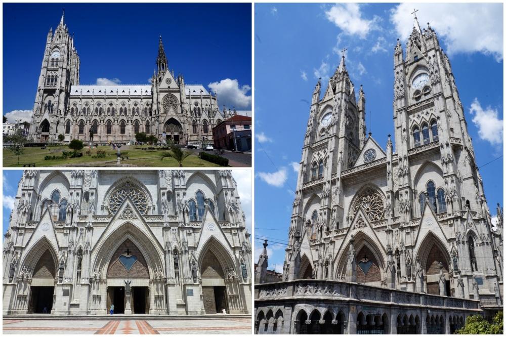 Exteriores de la enorme Basílica.